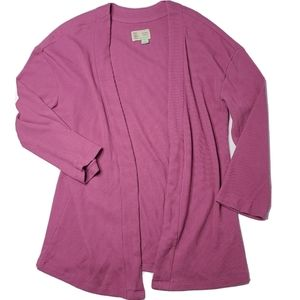 Saturday Sunday Anthro XS Purple Open Cardigan